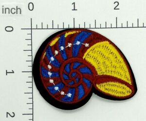 Seashell blue Sea//Shell//Beach Iron on Applique//Embroidered Patch 440