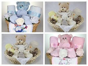Image is loading HANDMADE-NEWBORN-BABY-BOY-GIRL-UNISEX-HAMPER-GIFT- : newborn baby boy gift baskets - princetonregatta.org