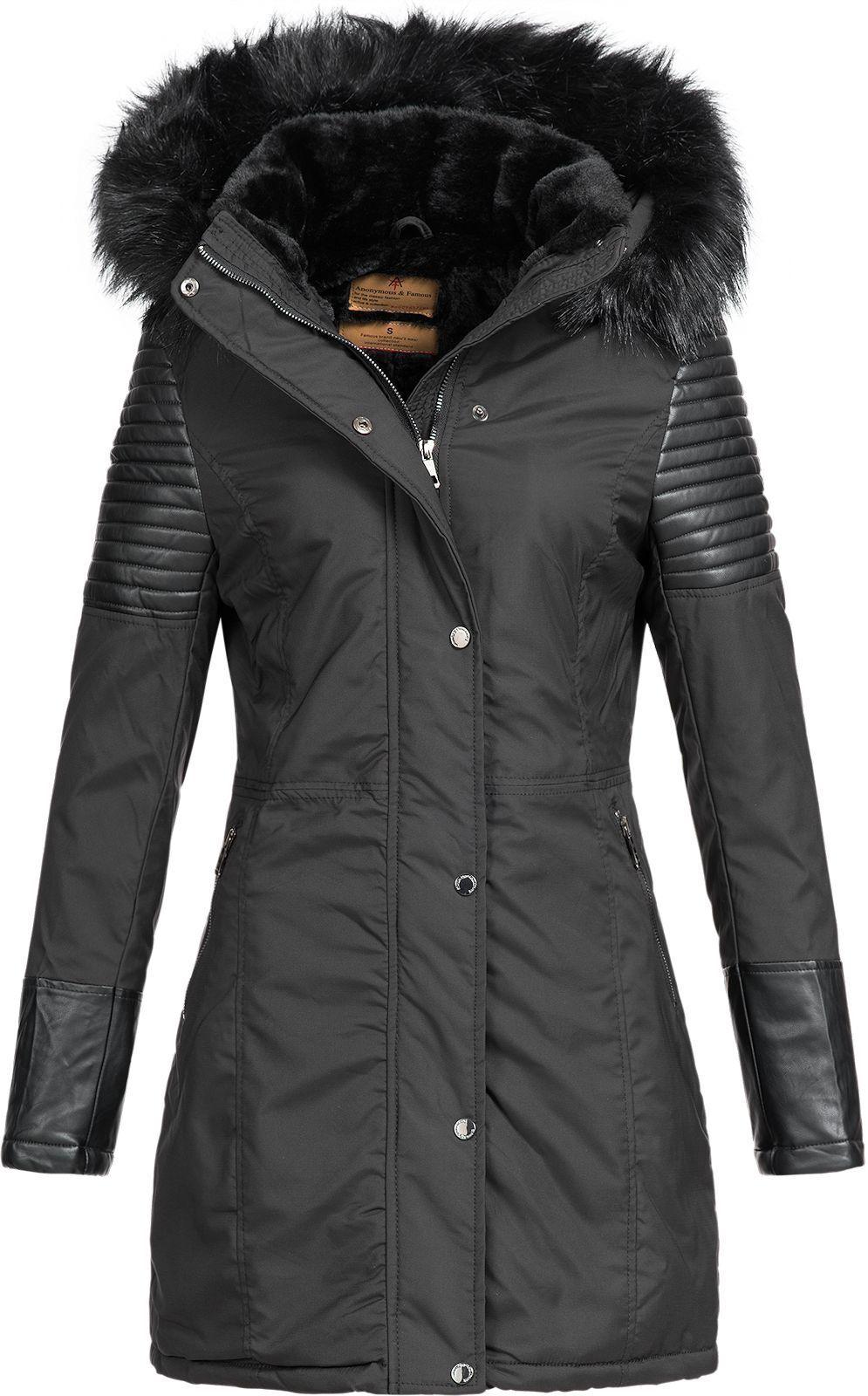 Damen Winter Jacke Damenjacke Parka Mantel Damenmantel Wintermantel AF-1806B