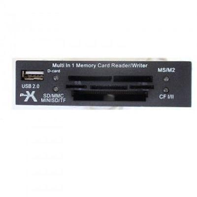 CARD READER LETTORE SCHEDE DI MEMORIA INTERNO USB 2.0 MS SD MMC TF MD CF XD