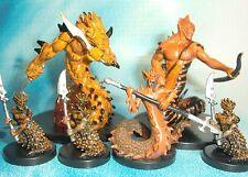 Dungeons & Dragons Miniatures Lot  Flamebrother Salamander Firetail Lair  s112