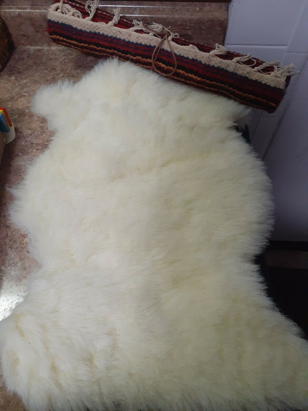 Josefina American Girl Pleasant Company Sheepskin Blanket - Hard to Find
