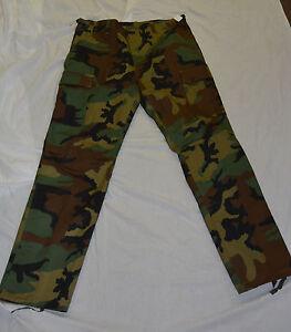 New-woodland-camo-combat-style-pants-size-large-bte75