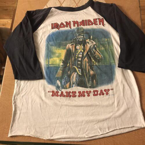 vintage iron maiden shirt xl