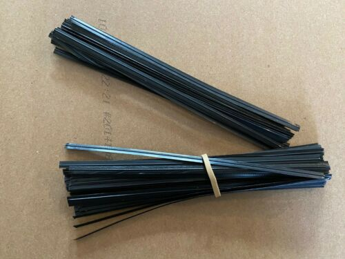 "Genuine Black Plastic ULINE Pre-Cut Twist Ties 6/"" Inches Length"