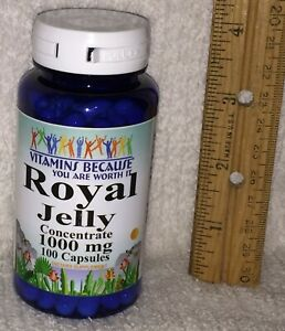 Royal Jelly Concentrate / Vitamins Because NO PRESERVATIVES, 1000 mg, 100 caps