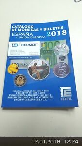 Catalogo-EDIFIL-de-MONEDAS-Y-BILLETES-ESPANA-y-Union-Europea-Edicion-2018-Color