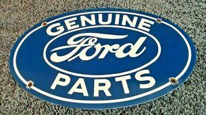 VINTAGE-FORD-AUTOMOBILE-PORCELAIN-GAS-SERVICE-STATION-PUMP-AD-METAL-SIGN