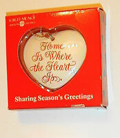 Home Is Where The Heart Is Forget Me Not Ornament Heart Shaped Keepsake