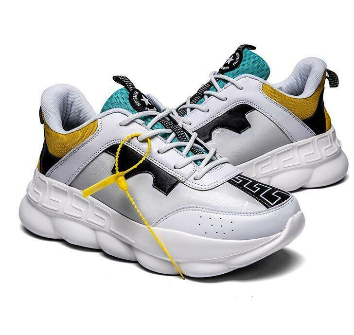 Mens Mixed color Thick Sole Sneakers Casual Lace Up Running shoes Athletic X163