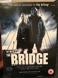 THE-BRIDGE-COMPLETE-SEASON-ONE-2012-3DVD-RARE-SEALED-Arrow-BBC-Swedish-R2