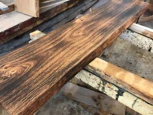 Rustikale Bretter brett bohle rustikal tisch tischplatte eiche geflammt diy