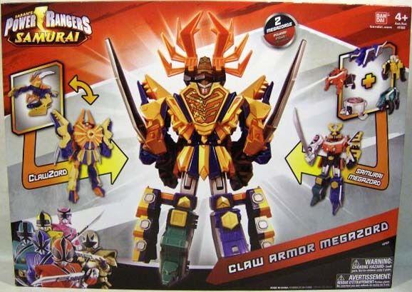 POWER RANGERS Samurai Megazord & ClawZord combime pour faire Griffe armure Megazord