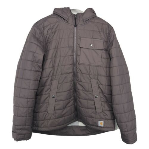 Carhartt Womens Nylon Full Zip Hooded Puffer Jacke
