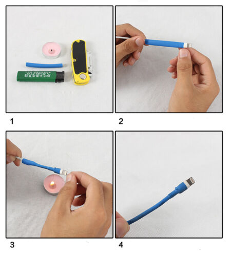 Various Colours Φ6mm Heat Shrink 2:1 Tubing For iPhone//iPad Data line protection