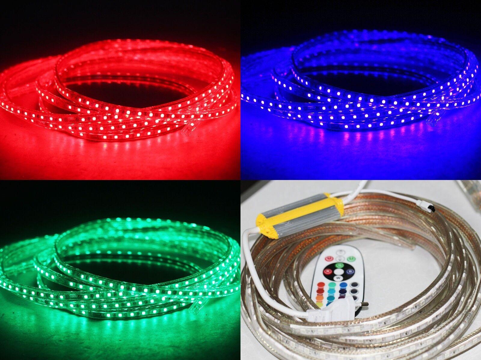 1-50m 230V IR FB RGB LED 60 leds Strip  ip68 mit Kontroller +Infrarot FB