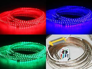 1-50m-230V-IR-FB-RGB-LED-60-leds-Strip-ip68-mit-Kontroller-Infrarot-FB