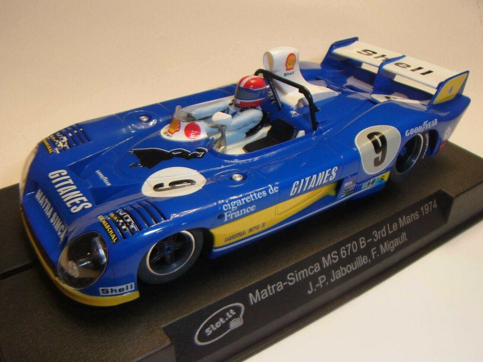 Slot  Matra-Simca Ms670b le Mans 1974  Sica27b per Pista Auto 1 3