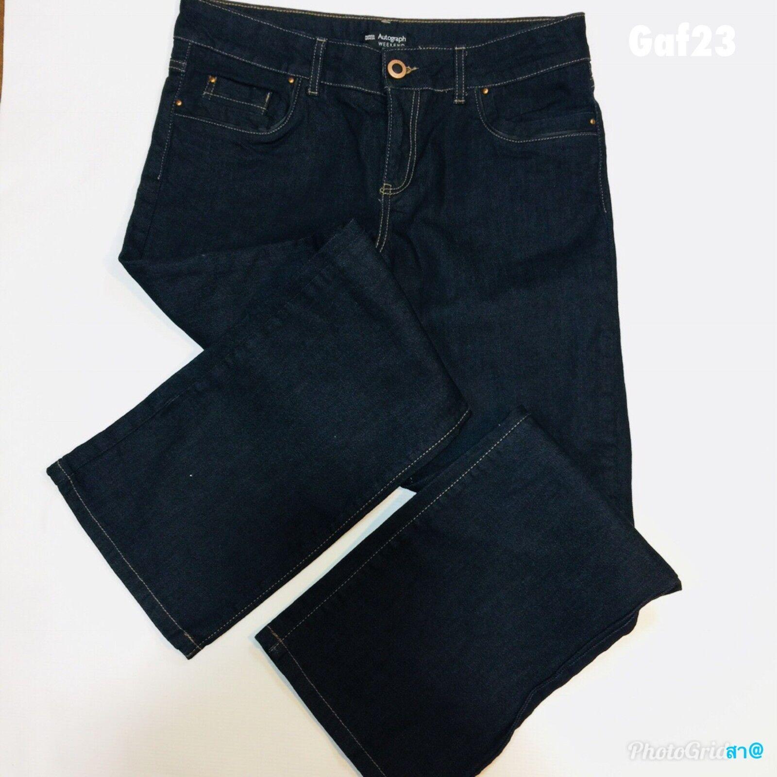 Da Donna And Spencer Weekend Marks AUTOGRAFO Denim Jeans Blu Corto W32 L28