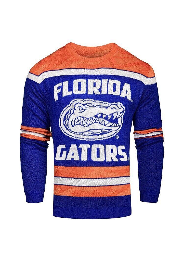 New Florida Gators Glow in the Dark Sweater Size Small orange bluee NWT NCAA