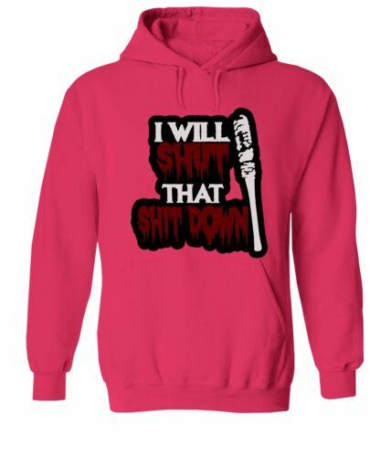 Hooded Sweater Jacket Pullover Hoodie Sweatshirt Top I Will Shut That Sh*t Down