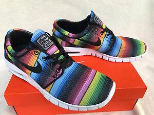 Nike Stefan Janoski Max PRM 807497-407 Tide Skateboard Skate Shoes Men's 10 new