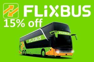 Flixbus 15% off voůÇher