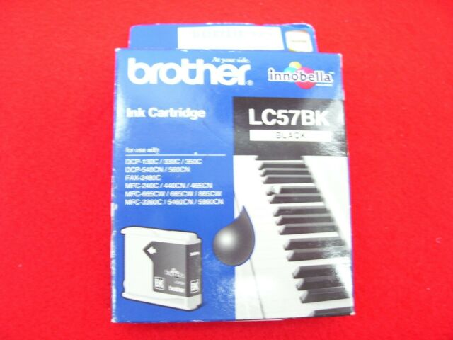 BROTHER LC57BK GENUINE BLACK INK CARTRIDGE MFC-5460CN MFC-5860CN MFC-685CW