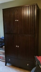 Details About Stanley Entertainment Armoire Cabinet Dark Wood Local Pickup Only Gso Nc 1400