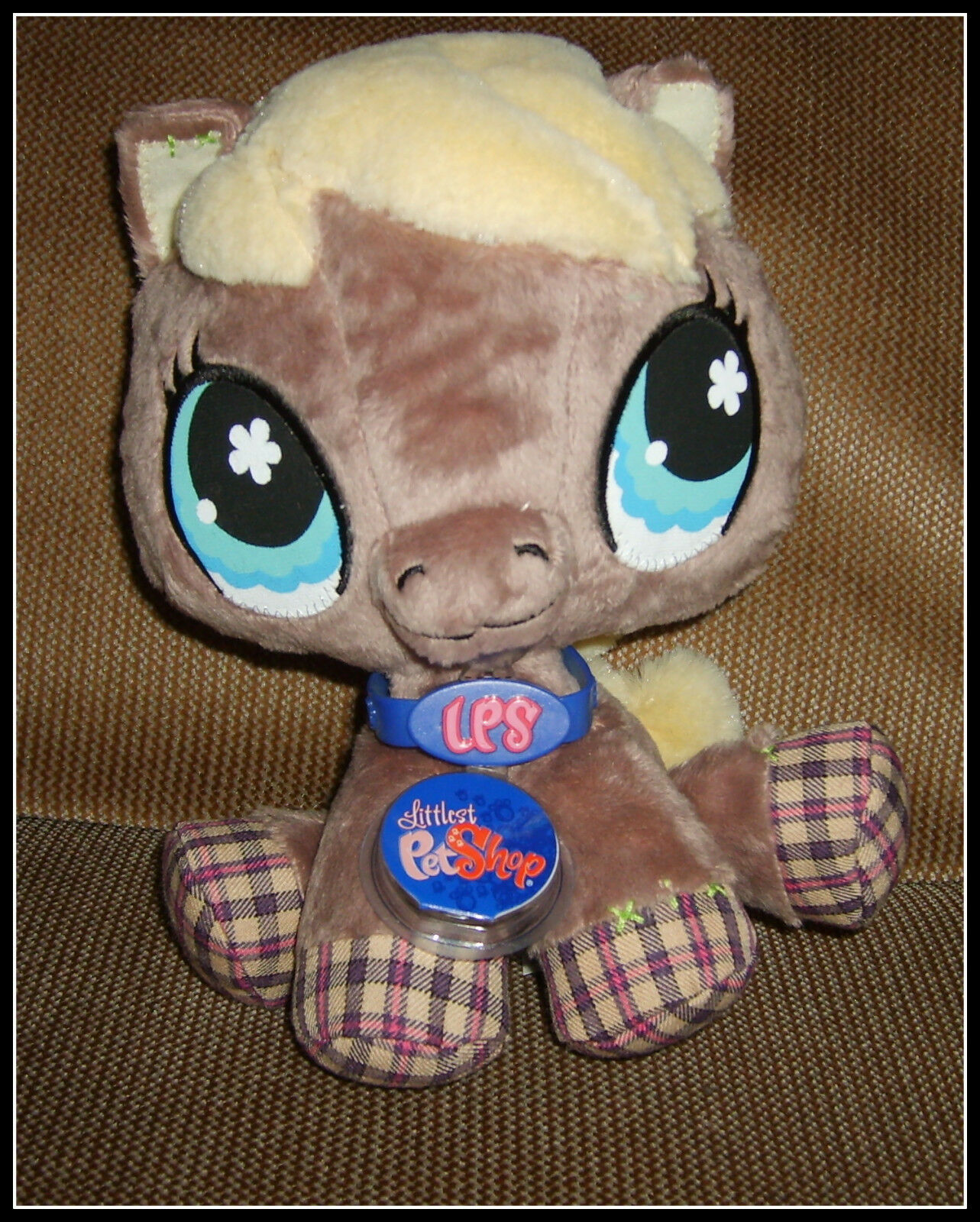 Littlest Pet Shop VIP Horse Plush Plush Plush Toy- NWT Sealed Unused Code 2007 Release, RARE 78ff79