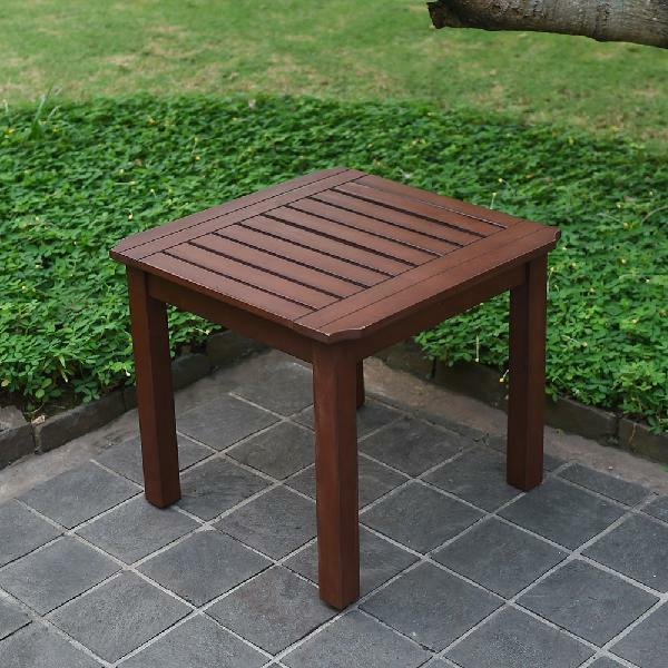 Square Outdoor Side Table Wooden Patio Furniture Balcony Terrace End  CoffeeTable