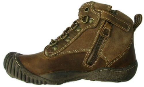 Kids Childrens Boys Brown Leather Timberland Waterproof Boots Shoes Zip 31752