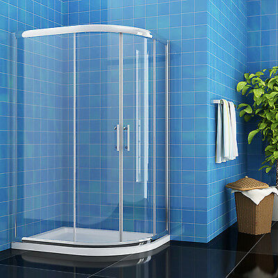Offset Quadrant Shower Enclosure and Tray Corner Entey Shower Cubicle