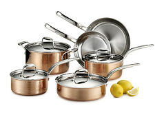 Lagostina Martellata 10 Piece Copper Cookware Set