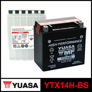 batteria yuasa ytx14h bs 12 volt 12 ampere sigillata acido sealed acid ebay. Black Bedroom Furniture Sets. Home Design Ideas