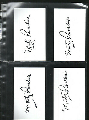 Marty Pavelich Autographed/signed/auto/hand-signed Index Card 3x5 Index Cards 11
