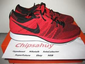 da0cee43bb9b Nike Flyknit Trainer Red Black Racer Zoom Air Woven Olympic Shoe DS ...
