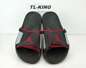 67c835a1e Nike Air Jordan Hydro 3 III Retro Sandals Slide Black Cement 854556 ...