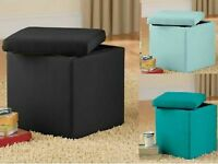 Chair Ottoman Bench Storage Seat Furniture Footstool Table Stool Box Color Black