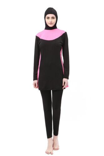 Women Islamic Swimwear Muslim Full Cover Swimsuit Arab Modest Beachwear Burkini