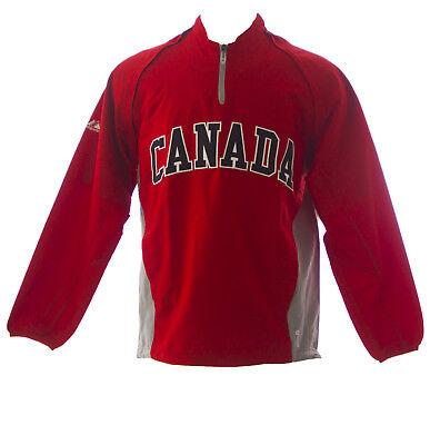 MAJESTIC Mens Red Canada World Baseball Classic Windbreaker 1JC1 $120 NEW