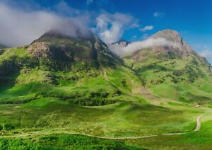 A1-Glencoe-Mountains-Poster-Art-Print-60-x-90cm-180gsm-Scotland-Gift-12551