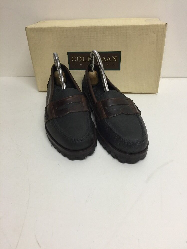 Cole Cole Cole Haan Country Oiled leather Timber Penny loafers 7.5 NIB nero Brwn Lug Sole 7efbeb