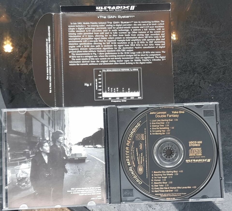John Lennon: Double fantasy - 24 karats guld cd, rock
