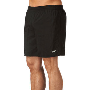 SPEEDO-MENS-SWIM-SHORTS-NEW-SOLID-LEISURE-16-034-WATER-BLACK-TRUNKS-SWIMMERS-910001