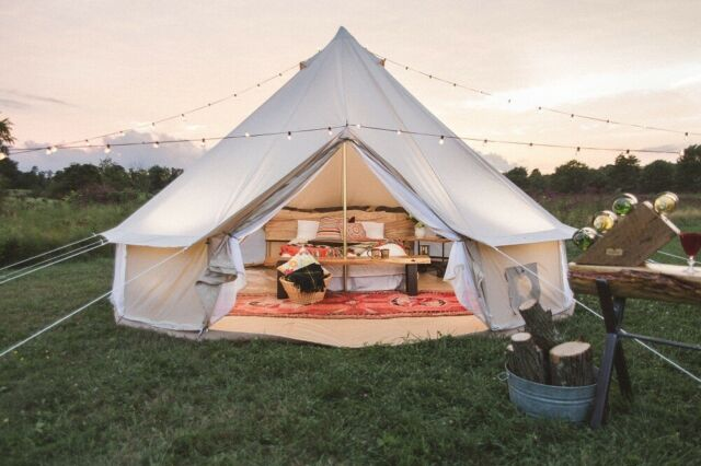 4m or 5m Bell Tent Camping Sand Awning