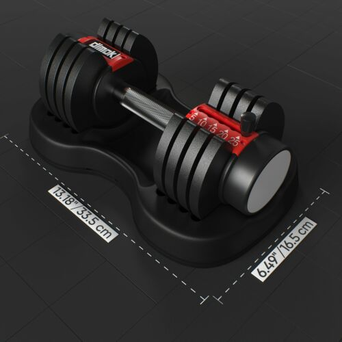 Details about  /12.5-25 lb dimok Adjustable Dumbbell Weights Plates, Anti-Slip Handle - Home Gy