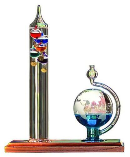 AcuRite 00795A2 Galileo Thermometer with Glass Globe Baromet