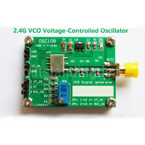2.4G RF VCO Signal Source Generator Microwave Voltage Controlled Oscillator os12