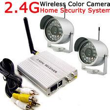 2.4G Wireless 4CH Home Security Surveillance System +2x 24LEDs CCTV Video Camera